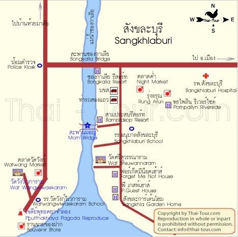 แผนที่และเส้นทางการเดินทาง
